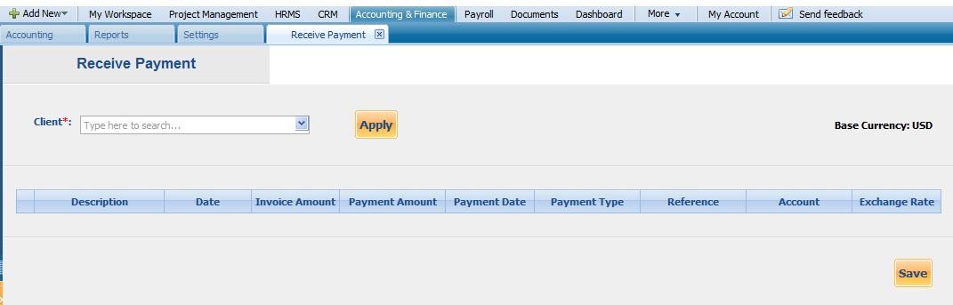 Recieve Payment