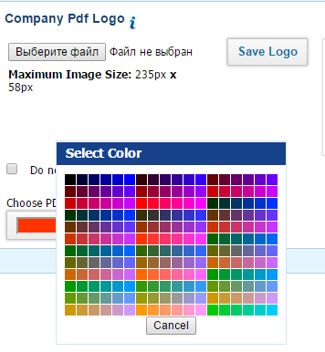 company name colors in pdf extracts