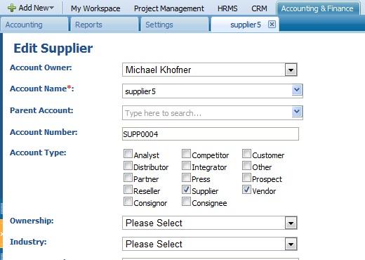 Edit Supplier