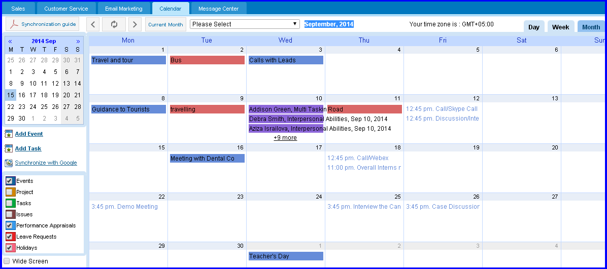 Online Calendar Management