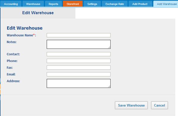 Adding New warehouse